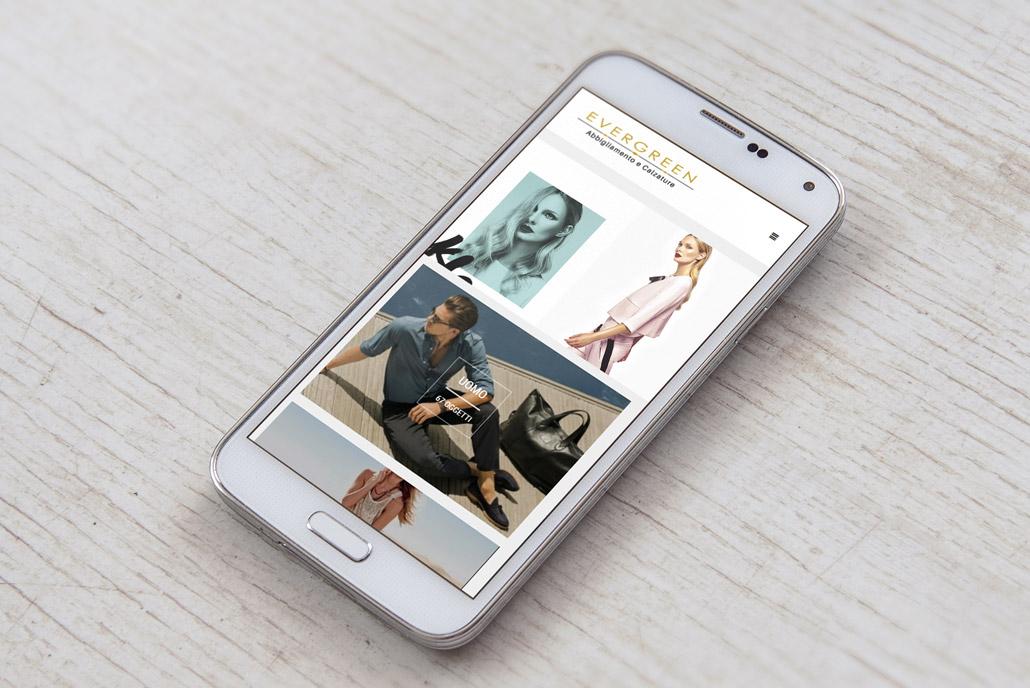 Evergreen abbigliamento tag agenzia web for Sito mobili